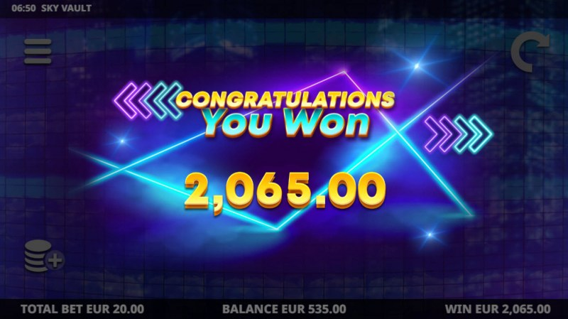 Sky Vault :: Total Free Spins Payout
