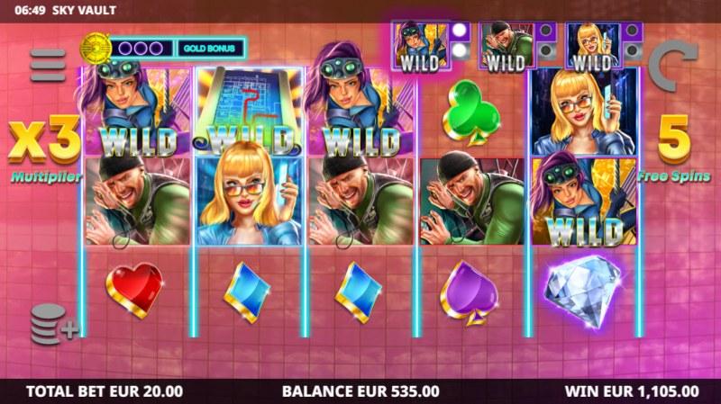 Sky Vault :: Multiple winning paylines