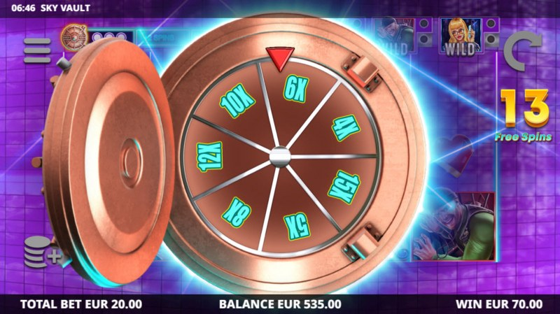 Sky Vault :: Bonus game board