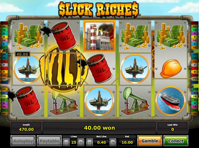 Slick Riches :: Multiple winning paylines