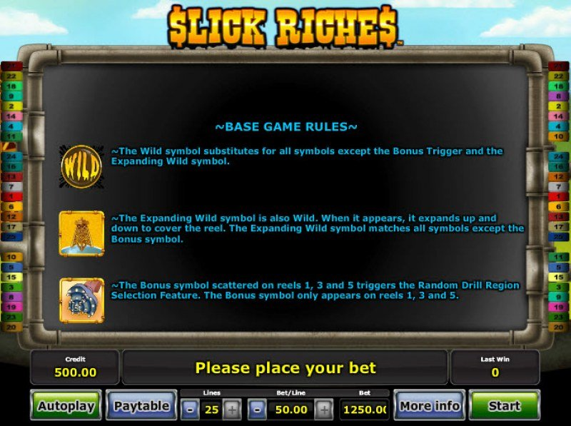 Slick Riches :: Wild and Scatter Rules