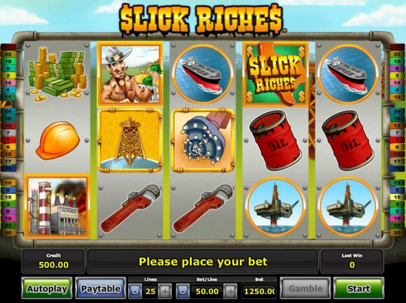 Slick Riches :: Main Game Board
