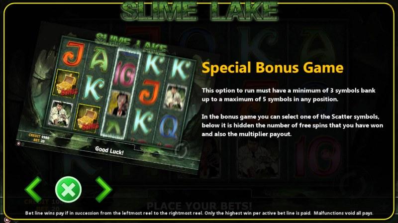 Slime Lake :: Bonus Game Rules