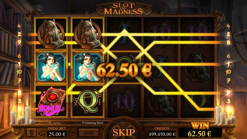 Slot of Madness :: Multiple winning paylines