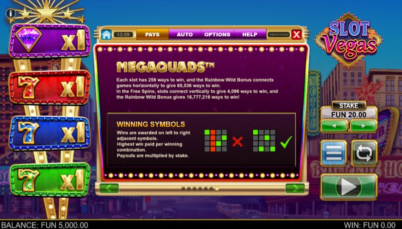 Slot Vegas Megasquads :: Ways to Win
