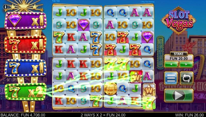 Slot Vegas Megasquads :: Any seven win increases multiplier