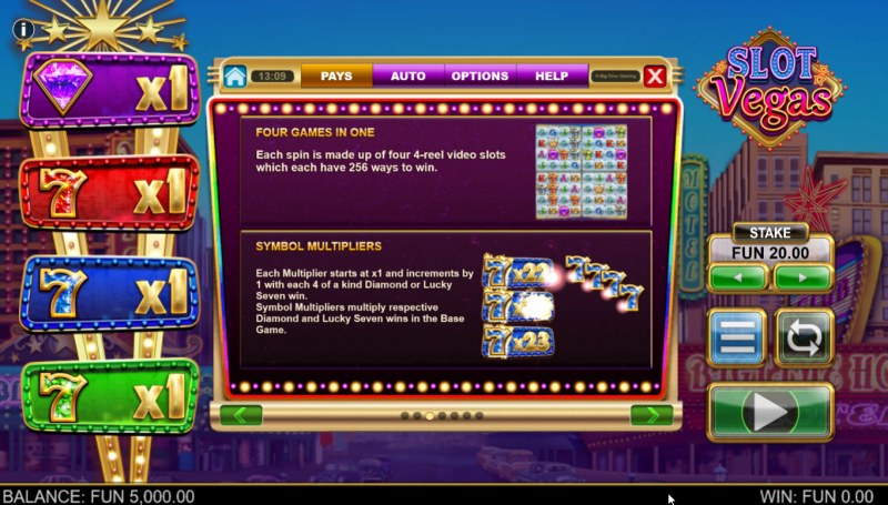 Slot Vegas Megasquads :: Feature Rules