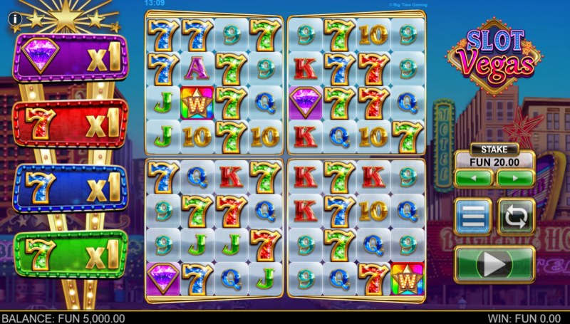 Slot Vegas Megasquads :: Main Game Board