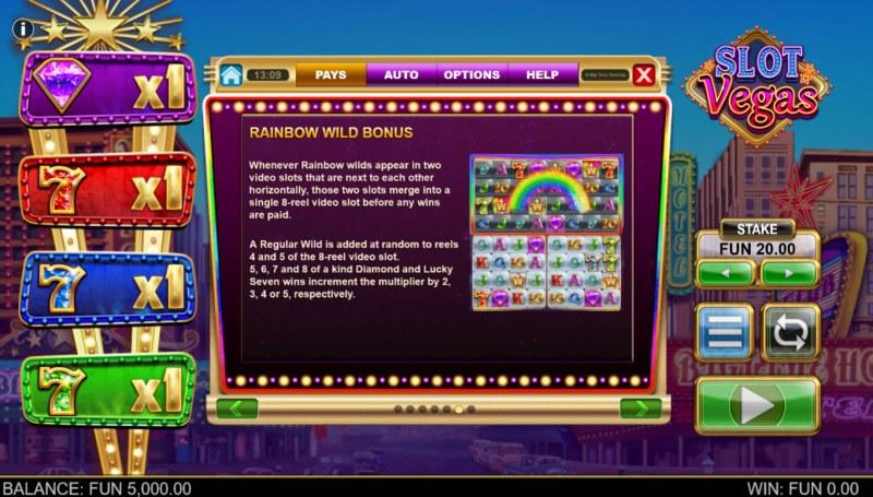 Slot Vegas Megasquads :: Rainbow Wild Bonus