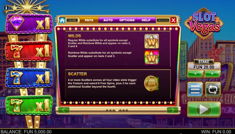 Slot Vegas Megasquads :: Wild and Scatter Rules