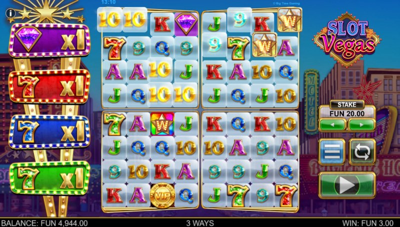 Slot Vegas Megasquads :: Multiple winning combinations