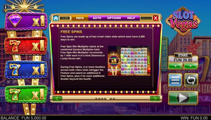 Slot Vegas Megasquads :: Free Spin Feature Rules