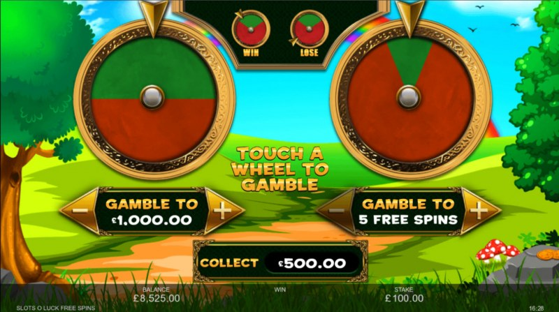 Slots O' Luck :: Gamble feature