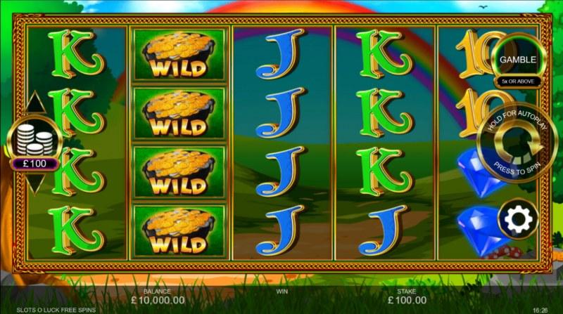 Slots O' Luck :: Base Game Screen