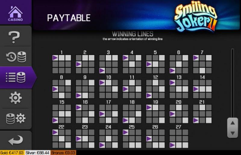 Smiling Joker II :: Paylines 1-27