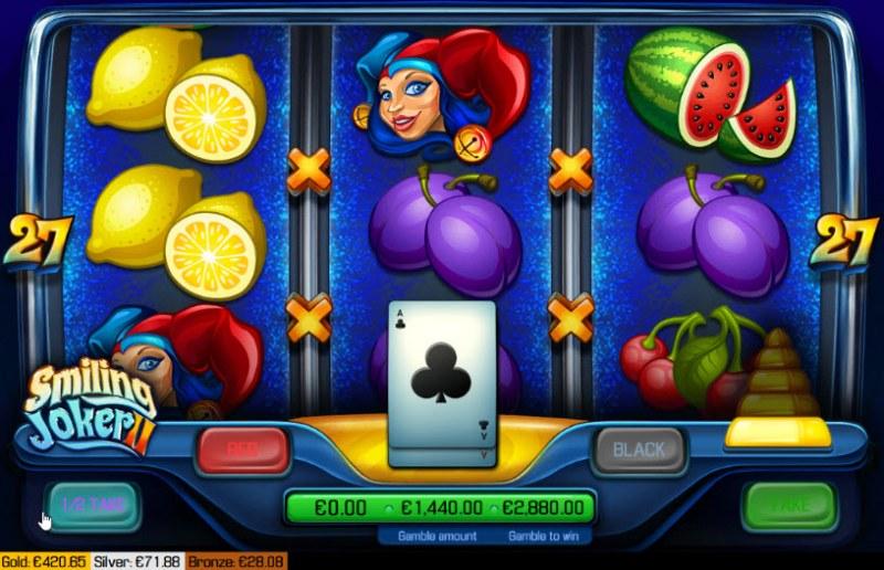 Smiling Joker II :: Red or Black Gamble Feature