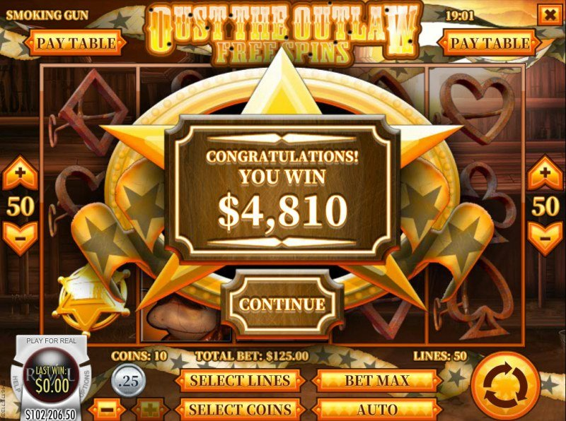 Smoking Gun :: Total free spins payout
