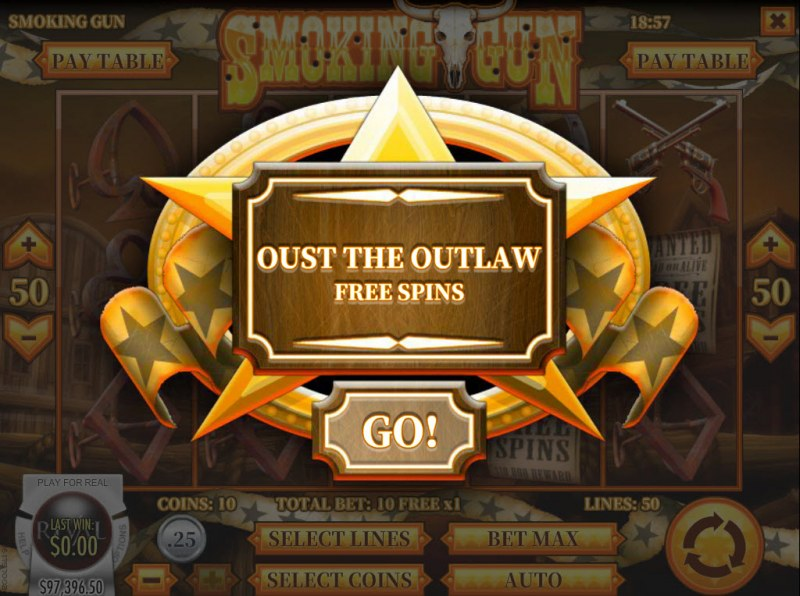 Smoking Gun :: 10 Free Spins Awarded