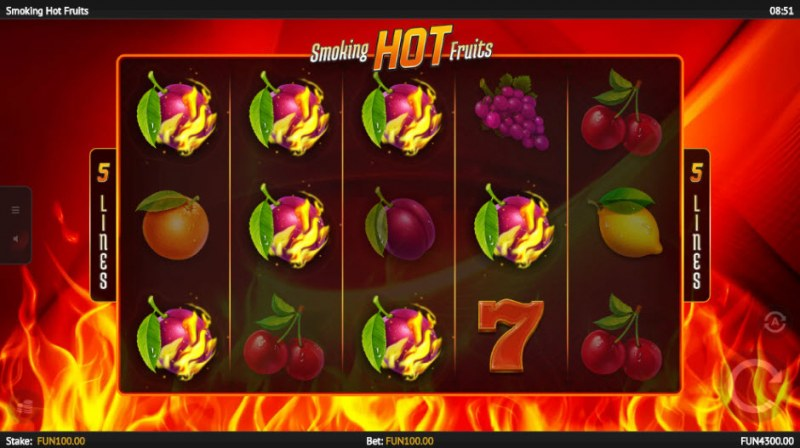 Smoking Hot Fruits :: Multiple winning combinations leads to a big win