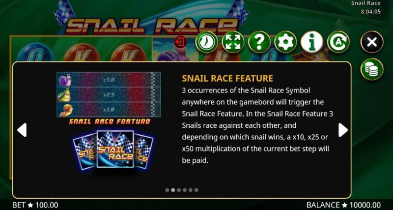 Snail Race :: Bonus Game Rules