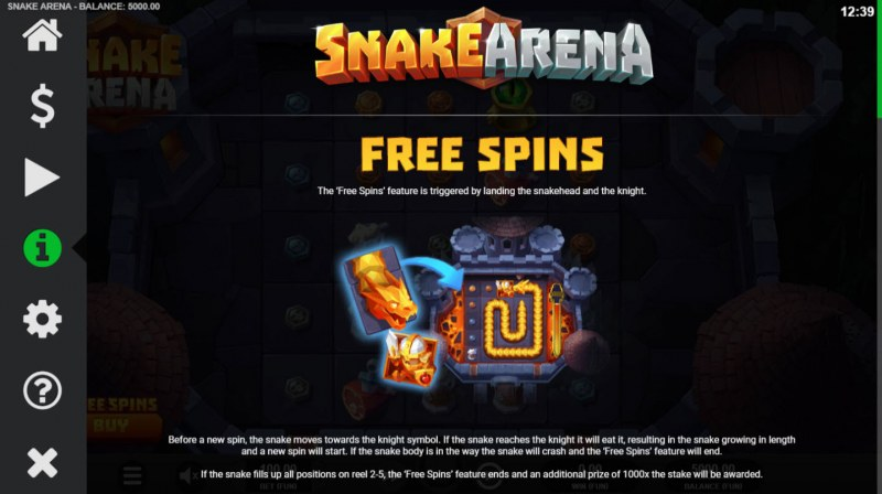 Snake Arena :: Free Spins Rules