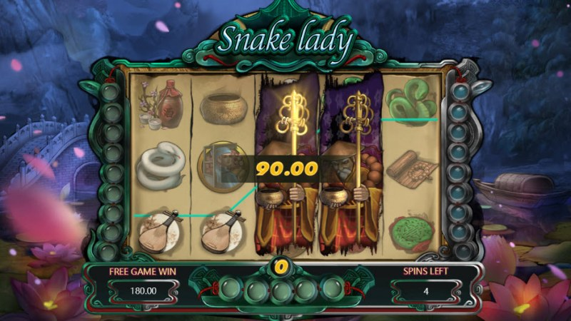 Snake Lady :: Free Spins Game Board