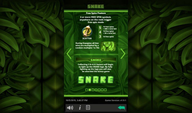 Snake :: Free Spins Rules