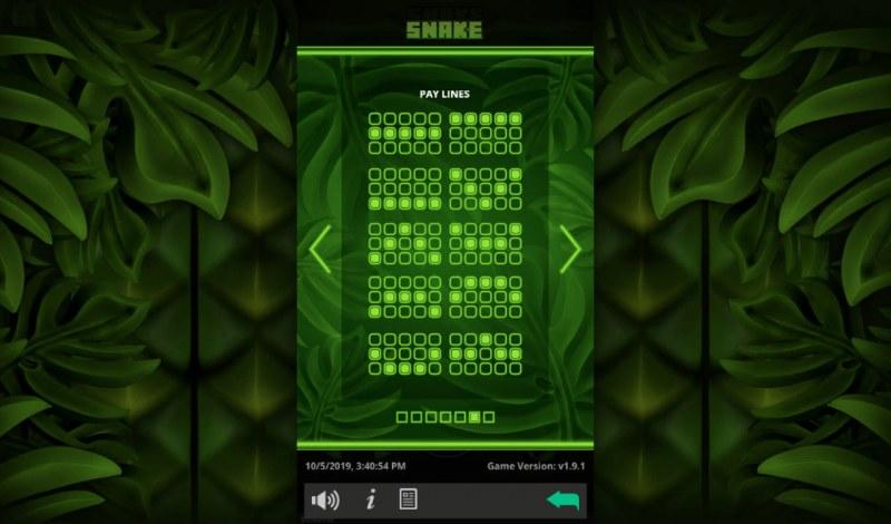 Snake :: Paylines 1-10