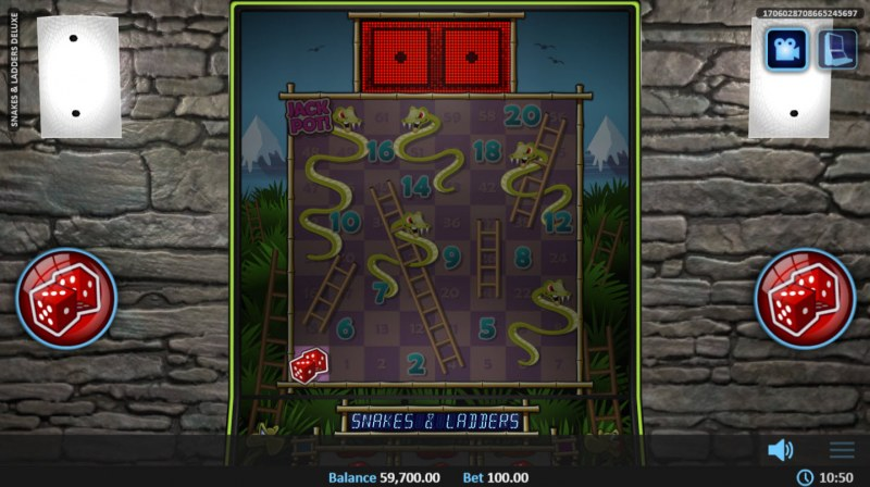Snakes & Ladders Deluxe :: Roll the dice to advance along the path