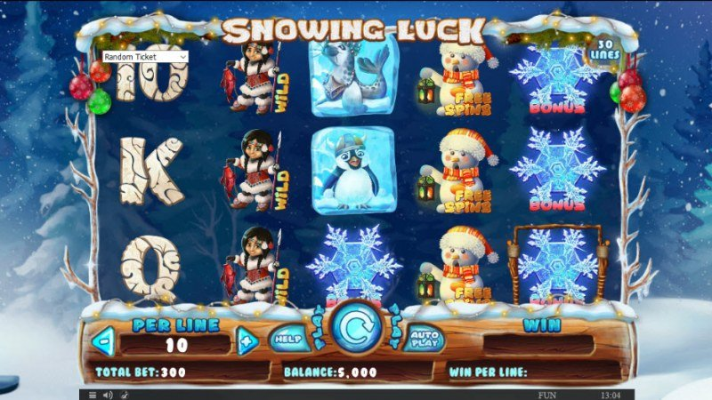 Snowing Luck Christmas Edition :: Main Game Board