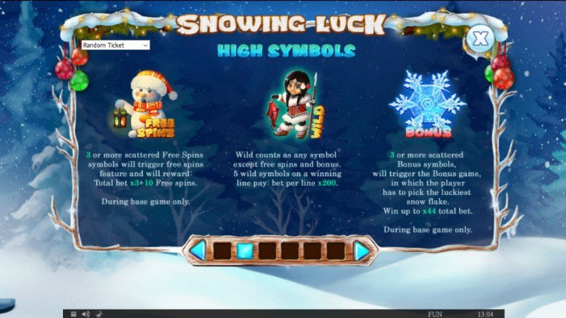 Snowing Luck Christmas Edition :: Paytable - High Value Symbols