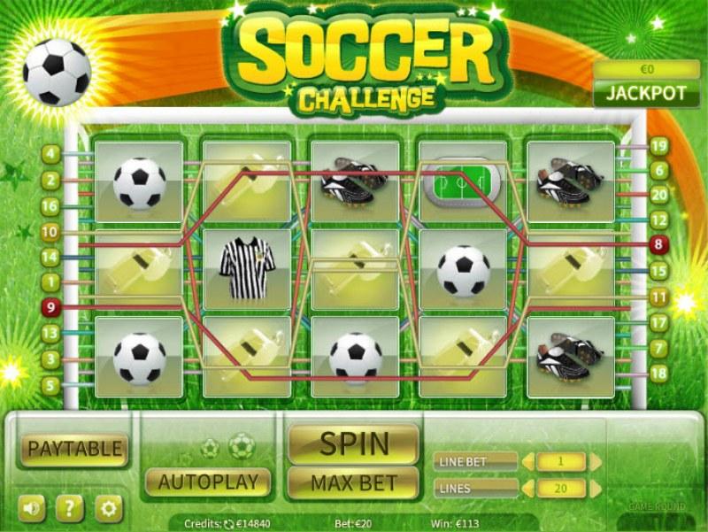 Soccer Challenge :: Multiple winning paylines