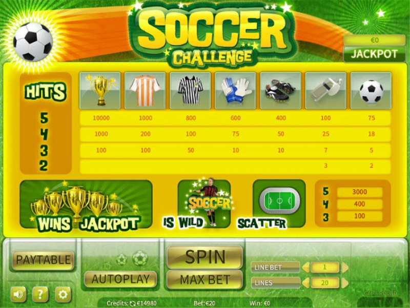 Soccer Challenge :: Paytable
