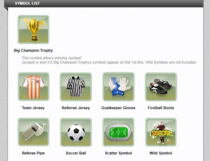 Soccer Challenge :: Symbol List