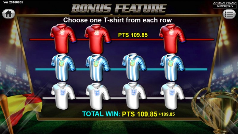 Soccer Mania :: Pick a jersey from each line to reveal a cash prize