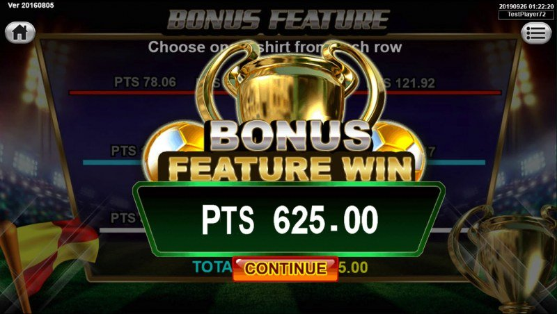Soccer Mania :: Total bonus feature payout