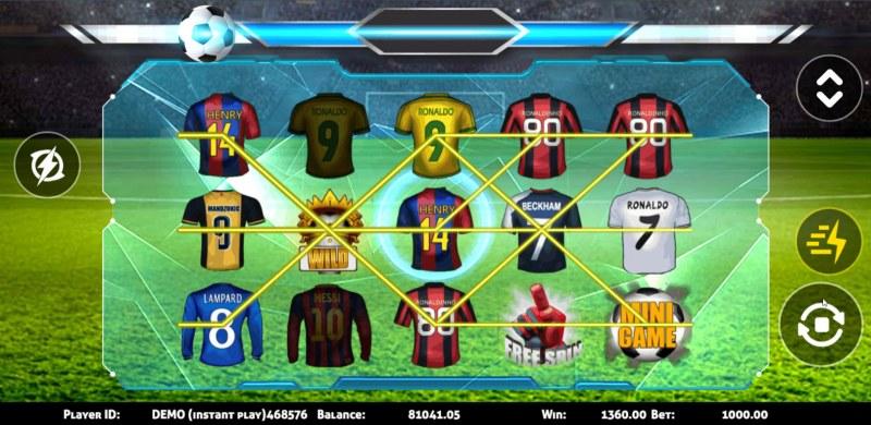 Soccer :: Multiple winning paylines