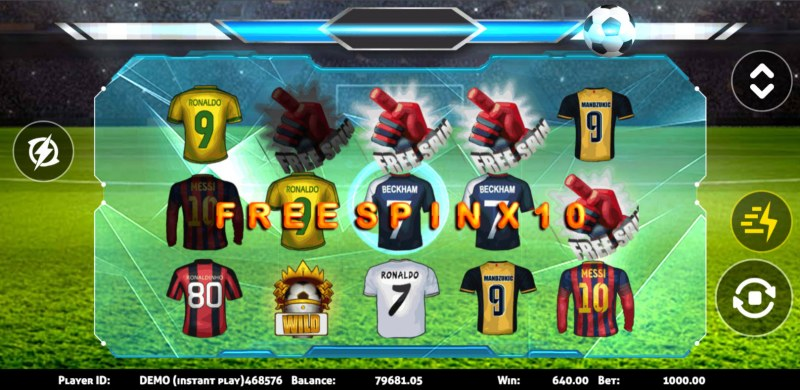 Soccer :: Scatter symbols triggers the free spins bonus feature