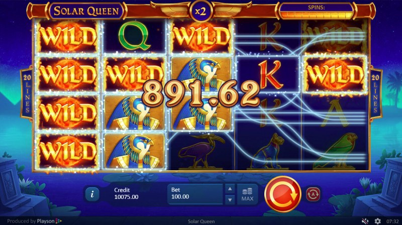 Solar Queen :: Multiple winning combinations leads to a big win