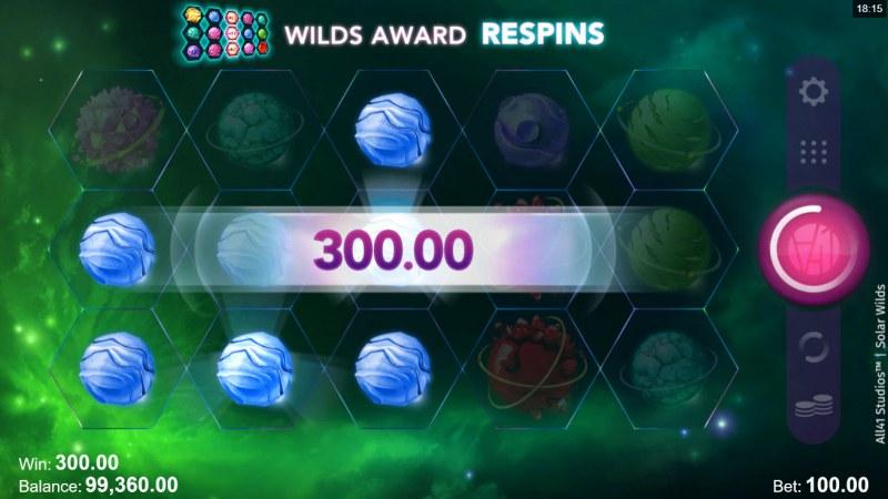 Solar Wilds :: Multiple winning paylines