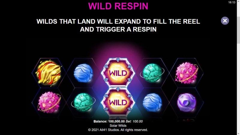 Solar Wilds :: Wild Symbol Rules