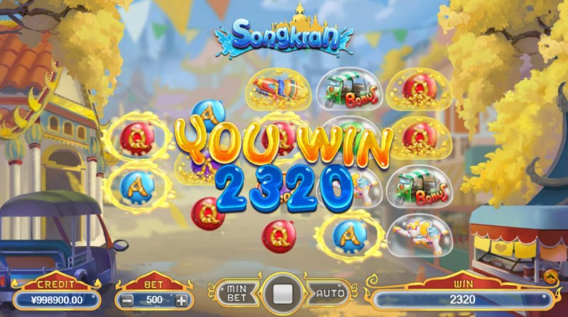 Songkran :: Multiple winning combinations leads to a big win