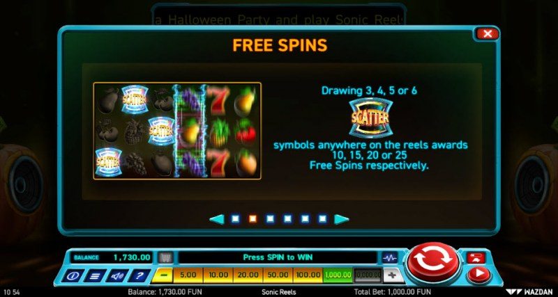 Sonic Reels :: Free Spins Rules