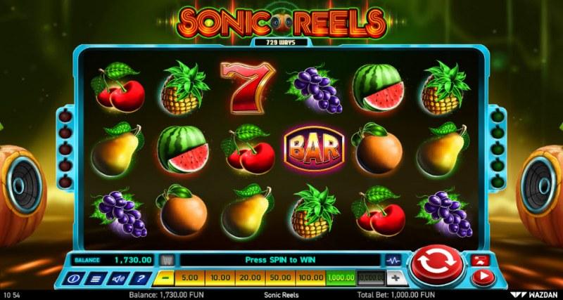 Sonic Reels :: Main Game Board