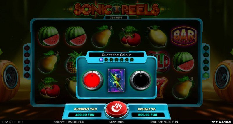 Sonic Reels :: Black or Red Gamble Feature