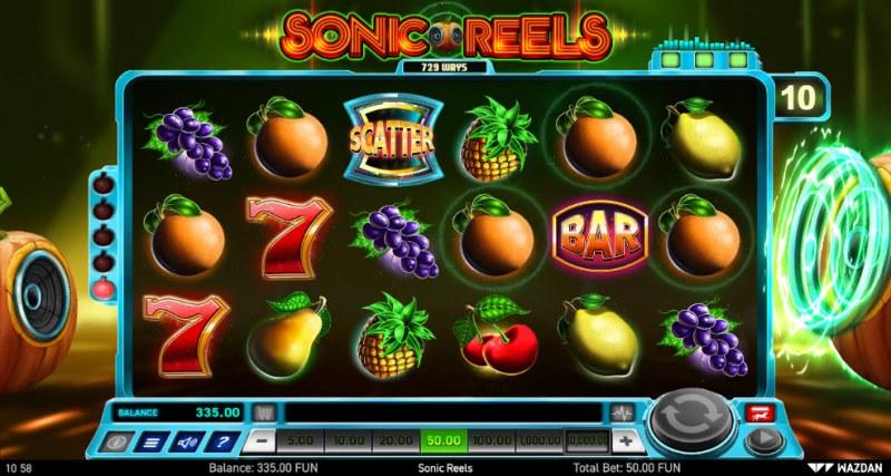 Sonic Reels :: Right Speaker Bonus Blasts winning combination