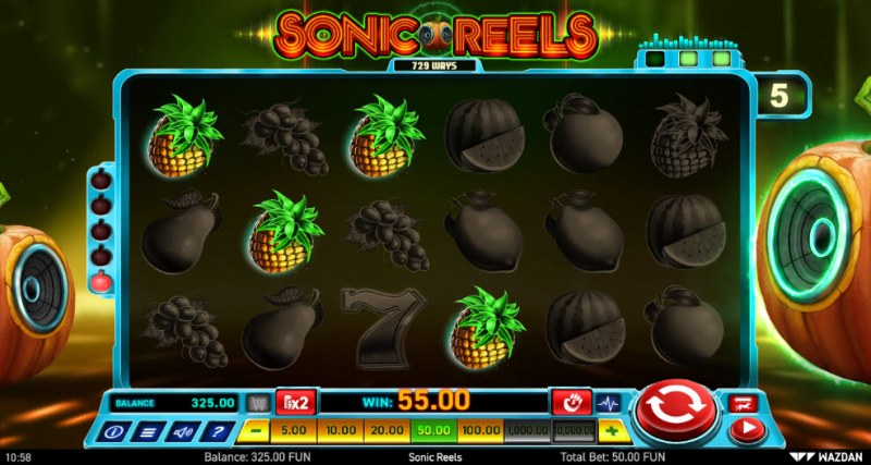 Sonic Reels :: Four of a kind Win