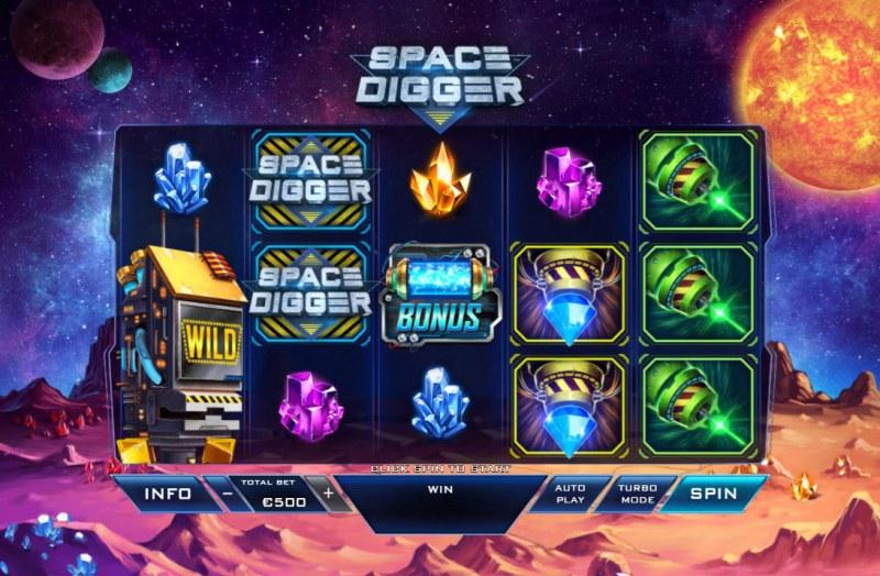Space Digger :: Main Game Board