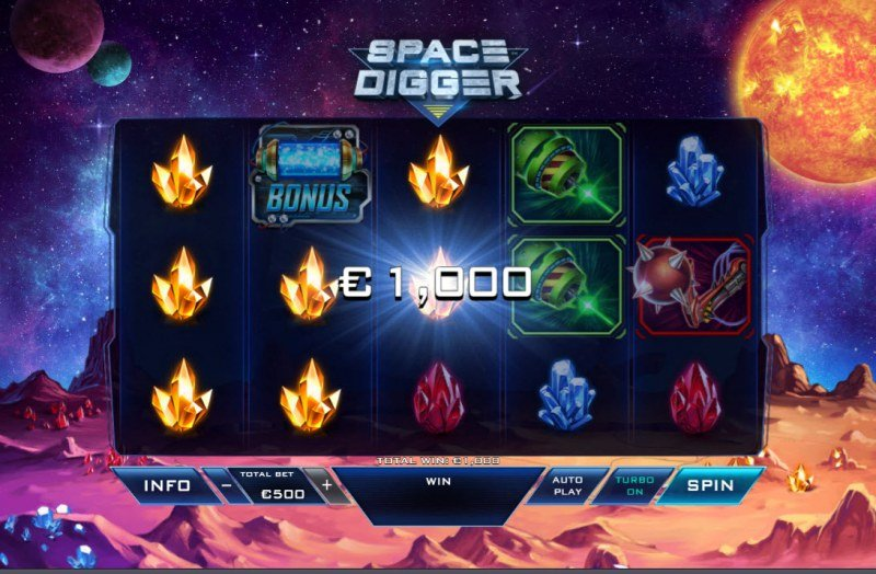 Space Digger :: Multiple winning paylines