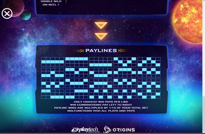 Space Digger :: Paylines 1-20